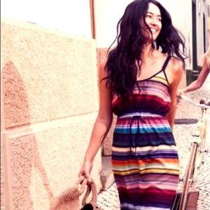 Athleta Rainbow Strip Havana Midi Dress - Small